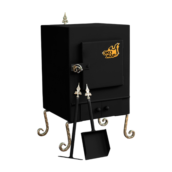 Печь Экожар Комфорт с Камерой Дожига Вторичных Газов (Сталь 4 мм)
