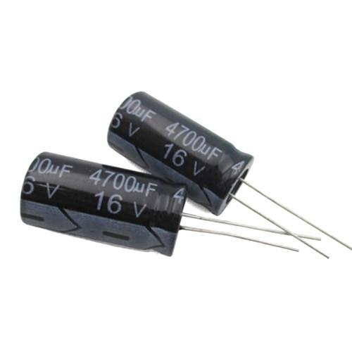 10x Конденсатор электролитический алюминиевый 4700мкФ 16В 105С
