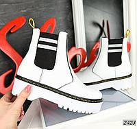 Молодёжные ботинки  из натуральной кожи 39,40 р белый, фото 1