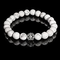 Браслет из кахолонга, серебро, Ø8 мм., 695БРК