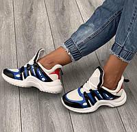 Женские стильные кроссовки на высокой подошве (115801б)