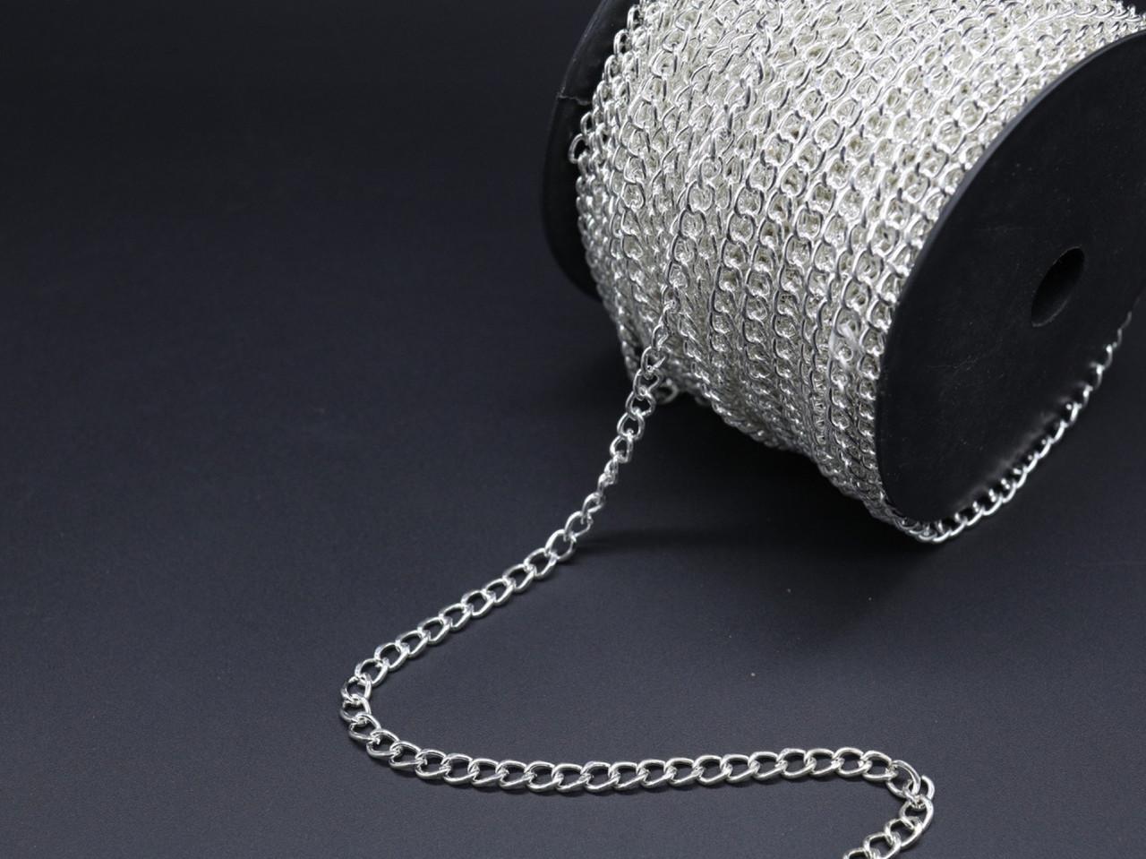 Цепочка для брелоков. Серебро. 5,4мм
