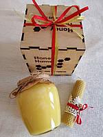 Медовий подарунок в дерев'яній коробці 720 мл (1 кг)