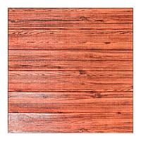 Самоклеющаяся декоративная 3D панель под красное дерево 700x770x7мм Os-FLM02, фото 1