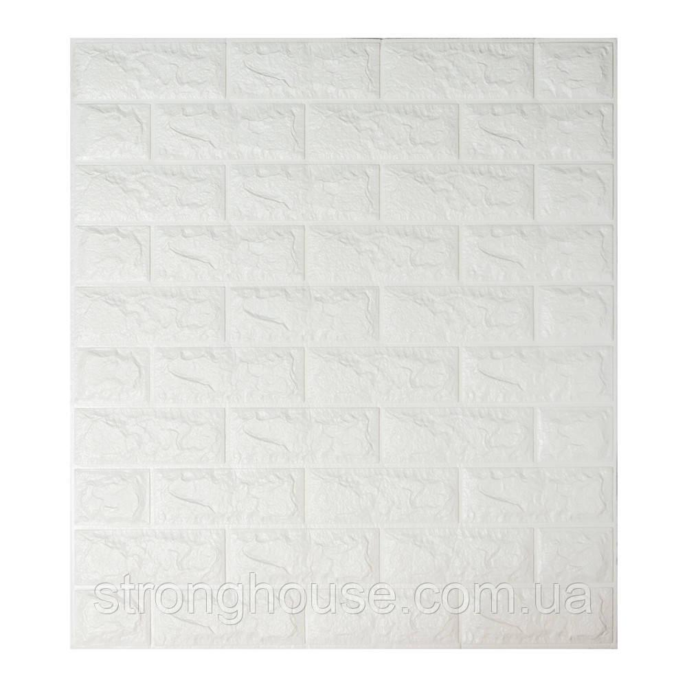 Самоклеющаяся декоративная 3D панель под белый кирпич 700x770x7мм Os-BG01-7