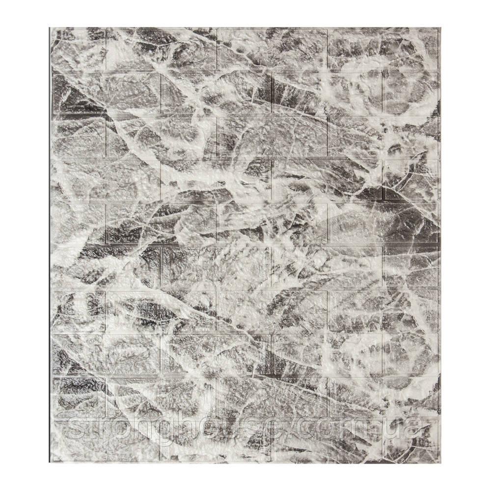 Самоклеющаяся декоративная 3D панель под кирпич мрамор 700x770x7мм Os-BM04-5
