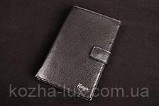 Портмоне мужское кожаное чёрное вертикальное Karya 0405, натуральная кожа, фото 3