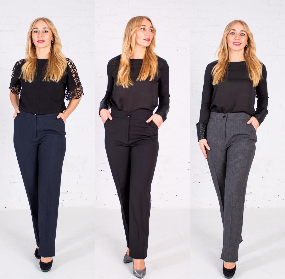 Жіночі брюки класичні пояс на резинці