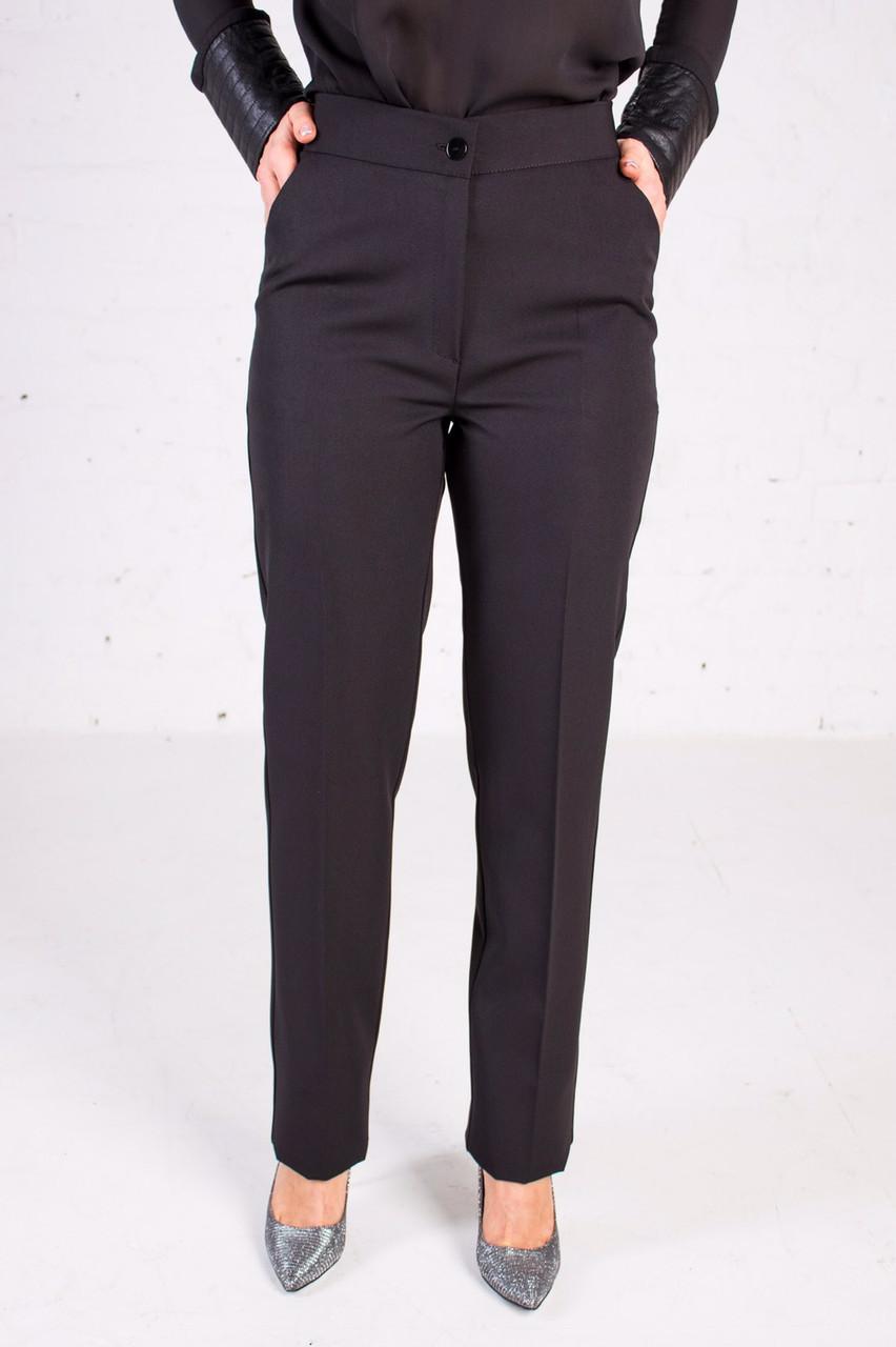 Женские брюки черного цвета классические пояс на резинке