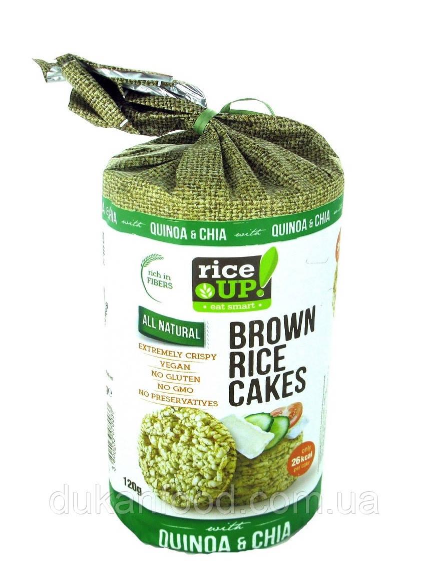 Хлебцы рисовые цельнозерновые RICEUP с киноа и семенами чиа