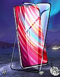 Захисне скло PZOZ повний клей 9D для Xiaomi Redmi Note 8 Pro, фото 3