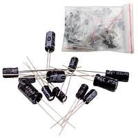 120x Конденсатор электролитический 0.22-470мкФ 16-50В, набор