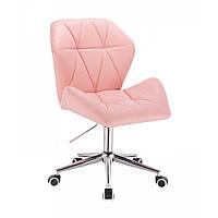 Кресло  HR 212  розовое  эко-кожа  колеса, фото 1