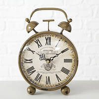 """Настольные часы """"Ретро будильник"""" коричневый металл 23*16*13 см (1xAA 1.5V) Boltze 4655800"""