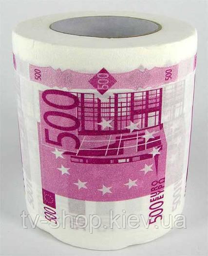 """Туалетная бумага """"Деньги"""" (100$,50,500 Евро)"""
