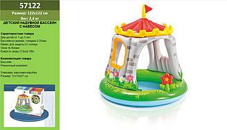 """Басейн дитячий надувний (Бассейн)57122 (6шт) """"Королівський замок"""" круг, вініл, (1-3 років) ремкомп., з кришк"""