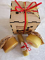 Медовий подарунок в дерев'яній коробці