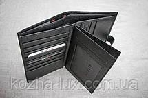 Портмоне мужское кожаное чёрное вертикальное Karya 0405, натуральная кожа, фото 2
