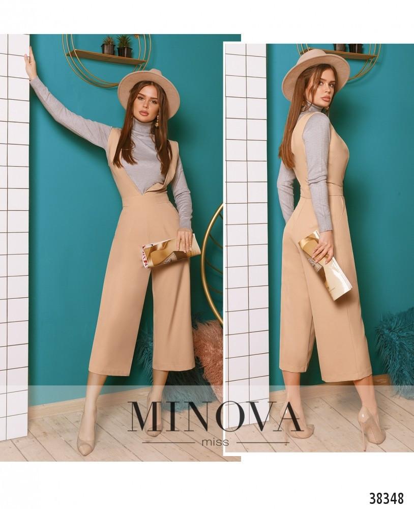 Модный женский комбинезон с брюками-кюлотами (3 цвета)
