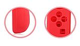 Силіконові чохли синій і червоний для Joy-Con Nintendo Switch + накладки на стіки / Скла / Плівки /, фото 5