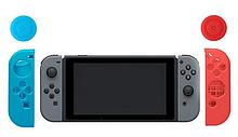 Силіконові чохли синій і червоний для Joy-Con Nintendo Switch + накладки на стіки / Скла / Плівки /