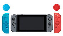 Силиконовые чехлы синий и красный для Joy-Con Nintendo Switch + накладки на стики / Стекла / Пленки /