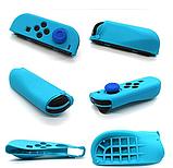Силіконові чохли синій і червоний для Joy-Con Nintendo Switch + накладки на стіки / Скла / Плівки /, фото 6
