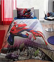 Подростковое постельное белье TAC  DISNEY простынь на резинке SpiderMan Action