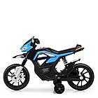 Детский мотоцикл Bambi на аккумуляторе JT5158-4 синий, фото 2