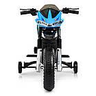 Детский мотоцикл Bambi на аккумуляторе JT5158-4 синий, фото 5