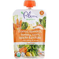 Plum Organics, Органическое детское питание, сладкая кукуруза и морковь с индейкой и шалфеем, 4 унции (113 г)