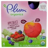 Детское пюре из ягод, (Organic Mashups), Plum Organics, 4 шт. по 90г