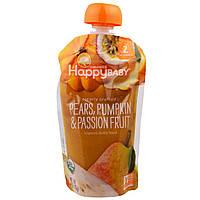 Nurture Inc. (Happy Baby), Органическое детское питание,  2-й этап, 6+ месяцев, груша, тыква и маракуйя, 4,0 унции(113 г)