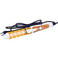 Спиральная плойка  для завивки волос perfect curl RZ118 / стайлер для волос Оранжевая