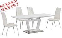 Стол обеденный TMM-51 белый матовый 140/180х80 Vetro Mebel (бесплатная доставка)