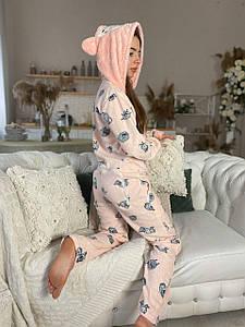 Пижама комбинезон(кигуруми) с кармашком на попе,попожама,  премиум качество!