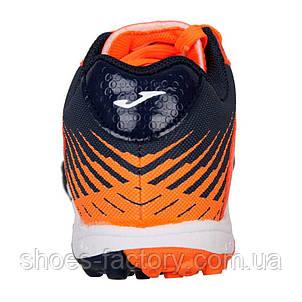 Футзальная обувь (Сороконожки) Joma TOLEDO JR 2008 Orange-Navy Turf, Оригинал, фото 2