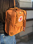 Рюкзак Канкен Fjallraven Kanken mini Orange 7л. Живое фото. Премиум реплика, фото 3