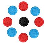 Силіконові чохли синій і червоний для Joy-Con Nintendo Switch + накладки на стіки / Скла / Плівки /, фото 9