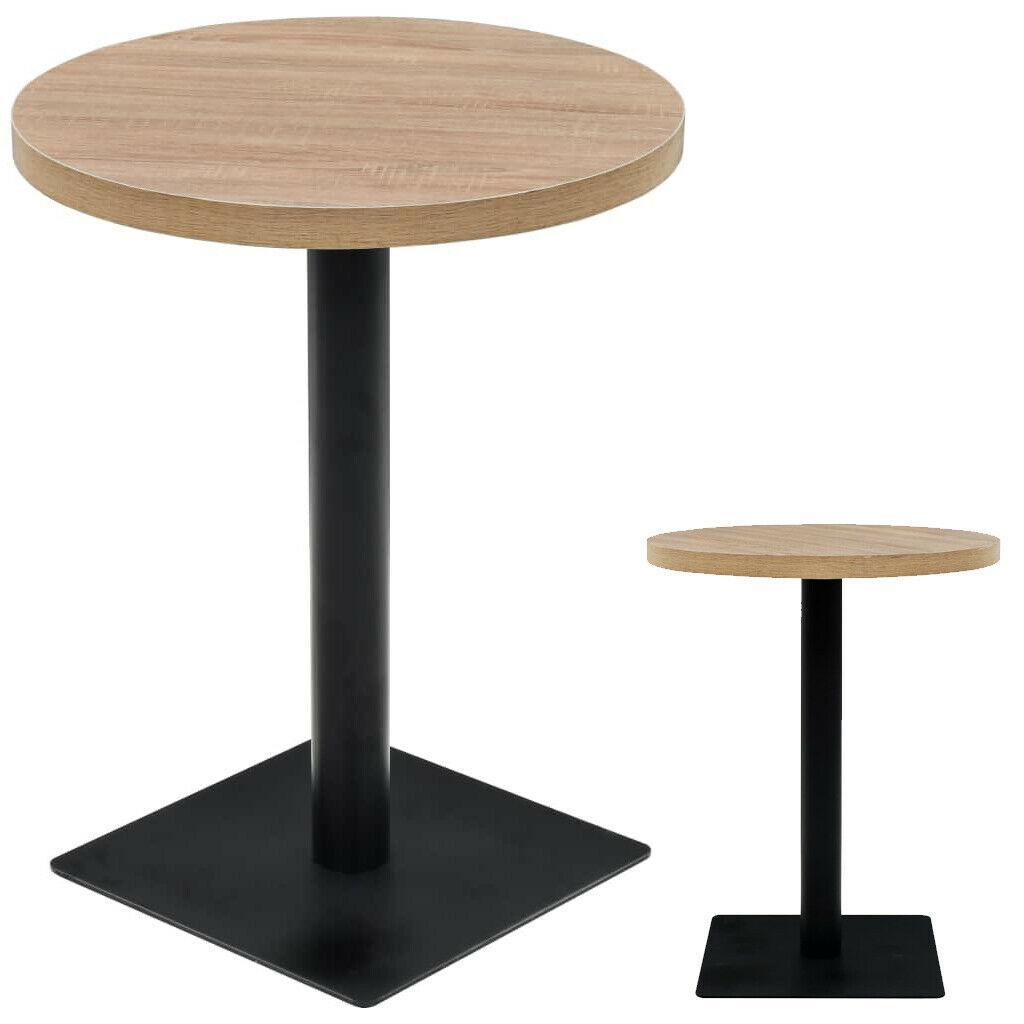 Круглые барные столики Horeca для завтрака в кафе бар ресторан из массива дерева и металла