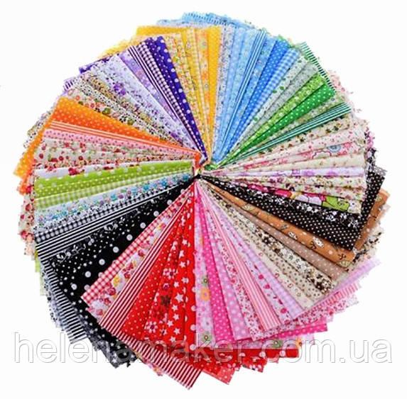 Мега набор ткани для рукоделия. 80 отрезов ситца 20*25 см