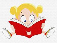 Картина по номерам для детей Девочка с книгой, 30x40 см, подарочная упаковка, Brushme (Брашми) (MEX6357)
