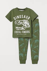 Детский костюм хаки Динозавры H&M р.86/92