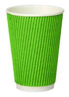 Стакан бумажный двухслойный зеленый, 400мл., 25 шт./ уп.