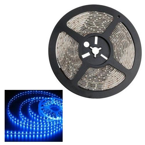 5м лента светодиодная, 300x 3528 SMD LED, синяя