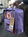 Рюкзак Канкен Fjallraven Kanken mini Violet Rainbow 7л. Живое фото. Премиум реплика, фото 2