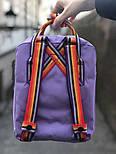 Рюкзак Канкен Fjallraven Kanken mini Violet Rainbow 7л. Живое фото. Премиум реплика, фото 3