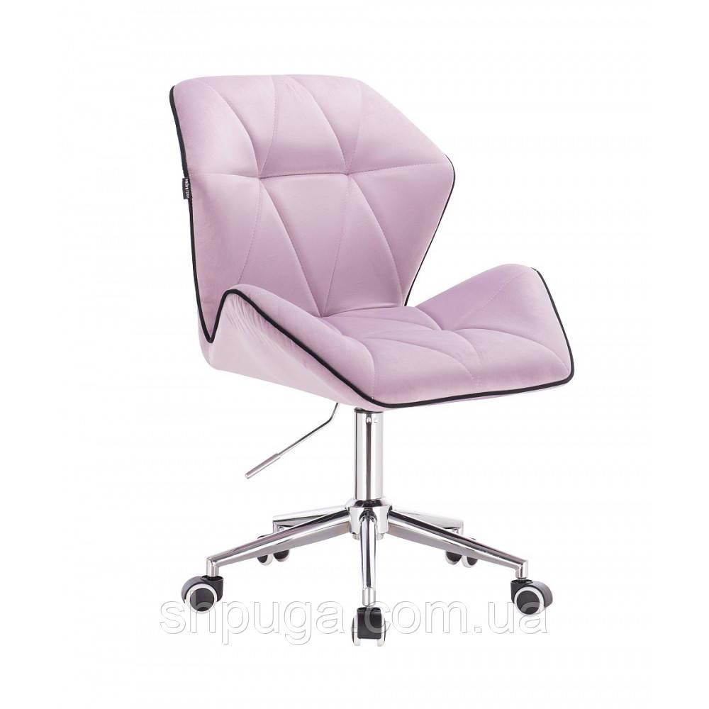 Кресло косметическое  HR212 вереск велюр ,колеса  хром .