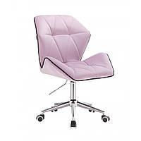 Кресло косметическое  HR212 вереск велюр ,колеса  хром ., фото 1