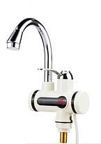 Проточный водонагреватель электрический на кран бойлер с душем и циферблатом #S/O, фото 2